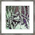 Ice Crystals Purple Framed Print
