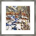 Icy River Framed Print