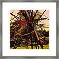Ikebana Sunset Framed Print