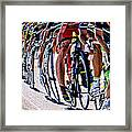 In A Line Framed Print