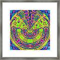 In Yo Planet Face Framed Print
