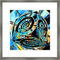 Infinity Time Cube Framed Print