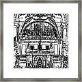 Inside St Louis Cathedral Jackson Square French Quarter New Orleans Stamp Digital Art Framed Print by Shawn O'Brien