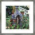 Iron Post Framed Print by Perry Webster