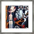 Jane And The Lemurs Framed Print