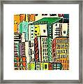 Jazz City Framed Print