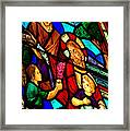 Jesus Stained Glass Framed Print