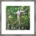 Jesus Statue Framed Print