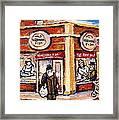 Jewish Montreal Vintage City Scenes Fish Market On Roy Street Framed Print