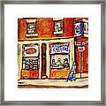 Jewish Montreal Vintage City Scenes Hutchison Street Butcher Shop  Framed Print