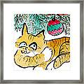 Just Stretching Framed Print