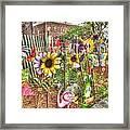 Kansas Flower Market Usa Framed Print