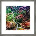 Kauai River Canyon Framed Print