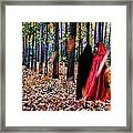 Lady In Red - 4 Framed Print