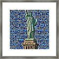 Lady Liberty Mosaic Framed Print