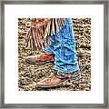 Lady Spurs Framed Print