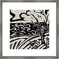 Land Sea Sky In Black And White Framed Print
