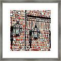 Lanterns In The Courtyard Framed Print