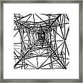 Large Electricity Powermast Framed Print