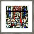 Last Supper Stained Glass Framed Print by Matthew Green