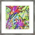 Lilies Transformed Framed Print