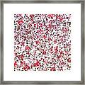 Lipstick And Eyeliner Abstract Framed Print