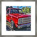 Little Red Express Hdr Framed Print