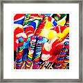 Lollipops - Painterly - Red Framed Print