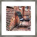 Lonely Seat Framed Print