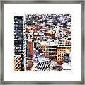 Looking East In Baltimore Framed Print