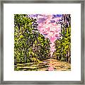 Louisiana Bayou Sunrise Framed Print