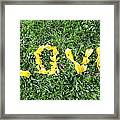 Love Spelt Out With Flowers Framed Print