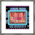 Macrophoto Of An 486 Computer Silicon Chip Framed Print