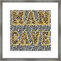 Man Cave Coin Mosaic Framed Print by Paul Van Scott
