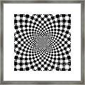 Mandala Figure Number 9 With Black And White Circles Framed Print