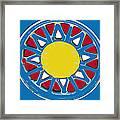 Mandala In Primary Colors Framed Print
