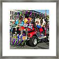 Mardi Gras Clowning Framed Print
