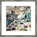 Market Day Framed Print by Tia Anderson-Esguerra