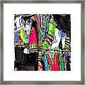 Market Of Djibuti With More Colors Framed Print by Jenny Senra Pampin