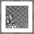 Mechanical Socket Background Framed Print