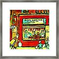 Meet Me At The Meat Market Framed Print