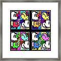 Mickey In Colors Framed Print