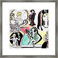 Mirror Ladies Framed Print