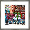 Montreal Bagels And Hockey Framed Print