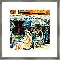 Montreal Cafe City Scenes Prince Arthur And Duluth Street Framed Print
