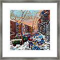 Montreal Hockey Paintings Framed Print