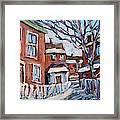 Montreal Scene 03 By Prankearts Framed Print
