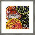 More Old Record Labels  Framed Print