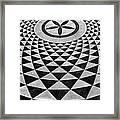 Mosaic Black And White Floor Framed Print