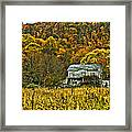 Mountain Home Painted Framed Print